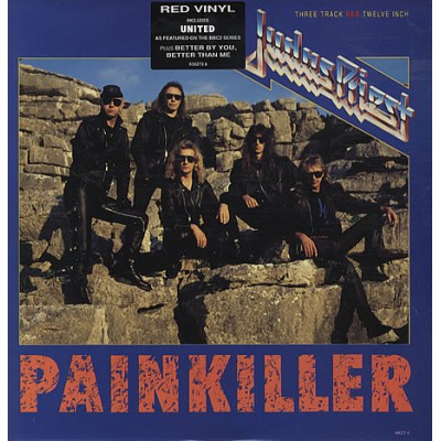 Judas Priest ‎– Painkiller Maxi Single, Красный винил