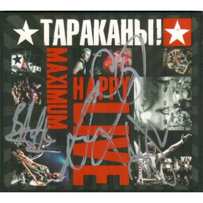 CD Тараканы! - Maximum Happy Live с автографами