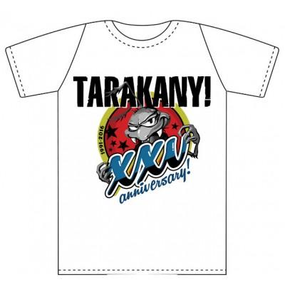 Футболка Тараканы! белая XXV anniversary SALE!!! СКИДКА 22%