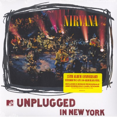 Nirvana - MTV Unplugged In New York 2LP 25th Anniversary Deluxe Gatefold NEW 2019 Reissue