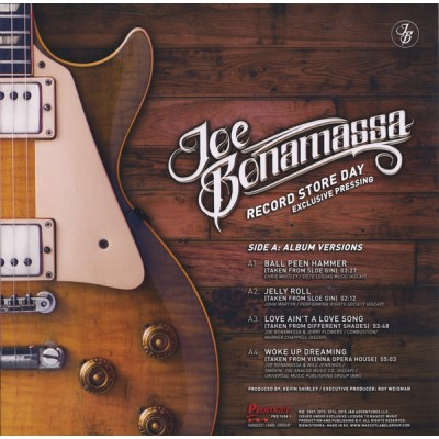 Joe Bonamassa ‎– Record Store Day - Exclusive Pressing