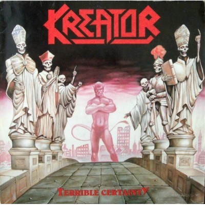 Kreator ‎– Terrible Certainty LP Germany 1987 + Inlay