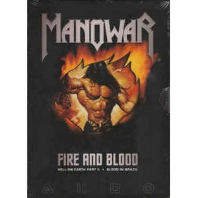 2 DVD Manowar - Fire And Blood