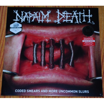 Napalm Death ‎– Coded Smears And More Uncommon Slurs 2LP Gatefold Ltd Ed Red Vinyl 400 copies