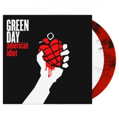 Green Day – American Idiot LP Red Black Swirl / White Black Swirl Vinyl Ltd Ed