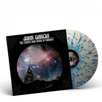 John Garcia ‎– The Coyote Who Spoke In Tongues LP Ltd Ed White with Blue Splatter