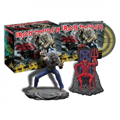 Iron Maiden - The Number Of The Beast CD Digipack Box Set Eddie Figure + Patch Предзаказ