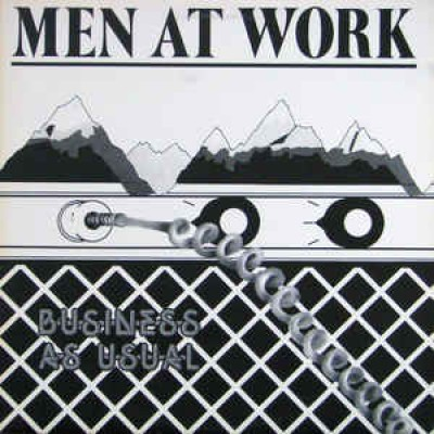 Men At Work – Business As Usual LP White Cover Canada + Inlay