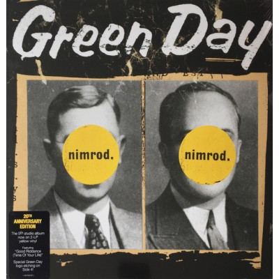 Green Day - Nimrod. 2LP Gatefold Ltd Ed Yellow Vinyl 2017 Reissue