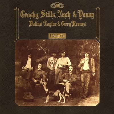 Crosby, Stills, Nash & Young – Deja Vu  LP Gatefold 1970 US Presswell Press, Faux-Leather Gatefold