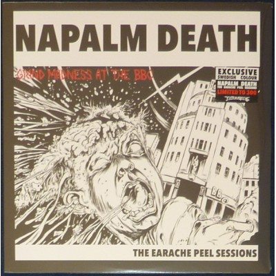 Napalm Death ‎– Grind Madness At The BBC - The Earache Peel Sessions LP Sweden Blue Yellow Splatter Ltd Ed 300 copies