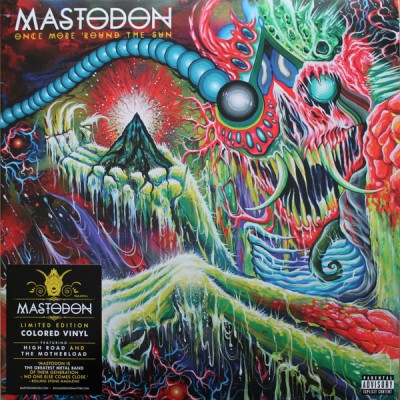 Mastodon - Once More 'Round The Sun LP Ltd Ed Green/White Marbled