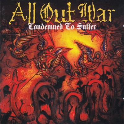 All Out War - Condemned to Suffer LP Orange Vinyl